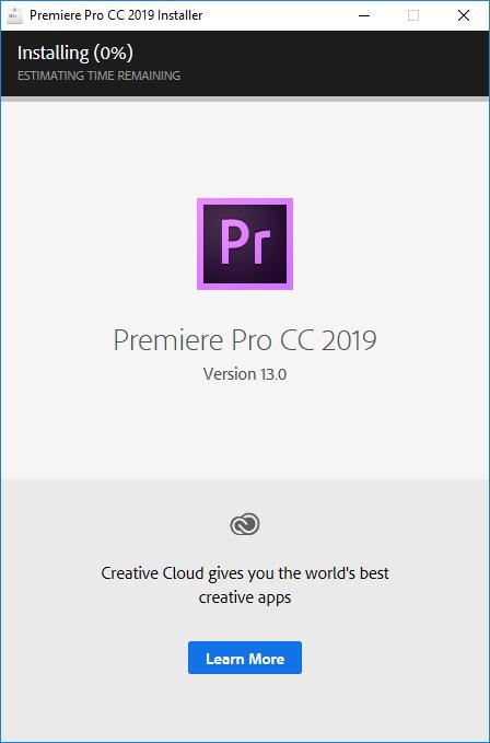 Download Premiere CC 2019 Mới Nhất_tiến trình cài đặt tự động