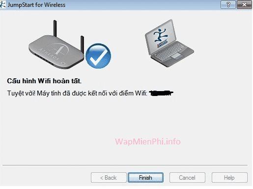 Kết quả sau khi hack pass wifi thành công bằng Dumpper
