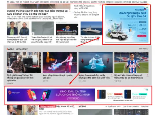 dat banner quang cao 1 537x400 - Banner website là gì? Những vị trí đặt banner quảng cáo trên webiste hiệu quả mà bạn nên biết