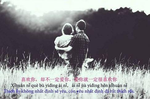 Danh ngôn tình yêu tiếng Trung Quốc hay