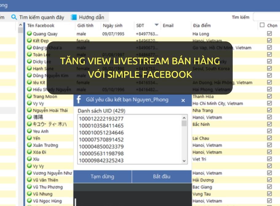 tang view livestream với simple facebook - Ý tưởng kiếm tiền với số vốn nhỏ 1-2 triệu đồng