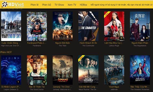 Top 25 trang web xem phim trực tuyến tốt nhất Việt Nam 2019